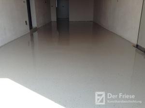 Epoxidharz Bodenbeschichtung in einer Garage
